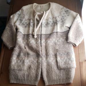 Vintage Akra prjon alafoss ice wool cardigan small